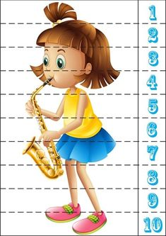 Counting Puzzles, Number Puzzles, Puzzles For Kids, Games For Kids, Music Flashcards, Fall Preschool Activities, Music Lessons For Kids, Early Math, Montessori Materials