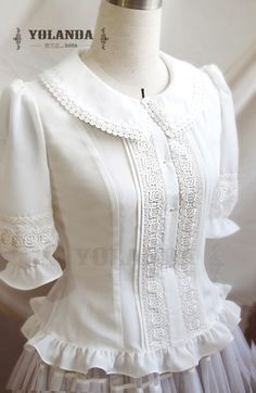 Vintage Pure White Lace Lolita Blouse - - Vintage Pure White Lace Lolita Blouse Source by twidhammer Cute Blouses, Blouses For Women, Mode Lolita, Vintage Outfits, Vintage Fashion, Beautiful Blouses, Beautiful Women, College Fashion, Lace Tops