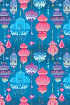 Beautiful pink, blue and purple Shimmer and Shine lamp pattern inspiration.