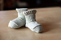 Ravelry: Better-Than-Booties Baby Socks pattern by Ann Budd - free