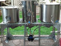 Using 3 stainless kettles to brew all grain beer offers more flexibility in mash temperature and recipe design. If you chose to go with a 3 vessel system, here is the setup and process you'll go through when you brew.