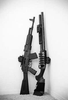 AK-47 & Tactical Shotgun...a good pair for home & personal defense!!