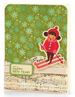 Musical Snowbanks Card by Carolyn King - supplies and instructions included