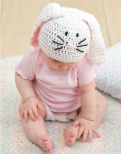 211be62ca1c Bunny Hat and Diaper Cover Set ePattern - Leisure Arts Crochet Kids Hats