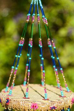 Wind chime Perlen Mobile mit von RonitPeterArt auf Etsy