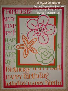 ~ ~ ~ ~ ~Jayne Stamps ~ ~ ~ ~ ~:  Flower Fest from Stampin Up