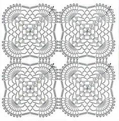 Ponteando: Toalha De Crochê Retangular Modelo Com Gráfico (Crochet Pattern) Einsnummer - Knitting Crochet - Diy Crafts - DIY & Crafts Crochet Blanket Edging, Crochet Tablecloth Pattern, Crochet Doily Diagram, Crochet Motif Patterns, Crochet Blocks, Granny Square Crochet Pattern, Crochet Chart, Crochet Squares, Thread Crochet