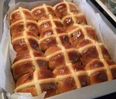 """Fluffy"" Easter Buns: Looking for a lighter bun?. http://www.bakers-corner.com.au/recipes/bread/hot-cross-buns/fluffy-easter-buns/"