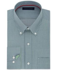 TOMMY HILFIGER Tommy Hilfiger Men'S Classic-Fit Non-Iron Navy Check Dress Shirt. #tommyhilfiger #cloth # dress shirts