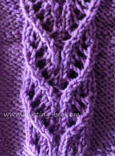 free lace panel stitch from knitting bee