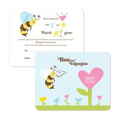 I LOVE THIS!!!!!!     Will You Bee Mine Plantable Valentine's Day Cards -- non-candy, educational and pro-nature!!!!!!