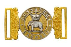 Badge. Irish. Connaught Rangers Officer's Victorian waist belt clasp circa 1881-1901. An exceptio