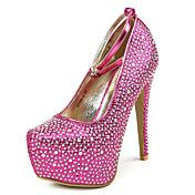 Bombas de raso tacón de aguja Tacones Zapatos... – USD $ 49.99