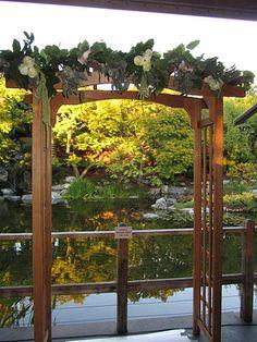 Wedding arch at Karl Strauss