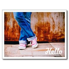 """Use this beautiful postcard simply to say """"Hello"""". The photograph can be replaced with one of your own if desired. Hello postcards by J32 Design. #AwesomeProducts #design #photography"""