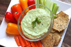 Green Goddess Avocado Dip...perfect for chowing down on raw veggies! #glutenfree #vegetarian