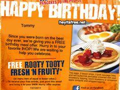 IHOP Birthday Freebie