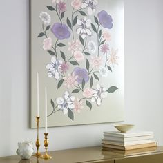 Families grow like flower gardens -- with lots of time, care, and love. This wall hanging represents that basic biological truth with a variety of subtly colored clip-art blossoms.