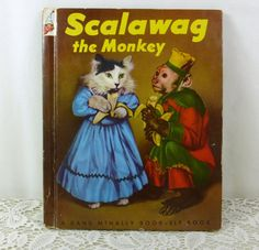 Scallawag the Monkey 1953 Rand McNally Elf Book by naturegirl22