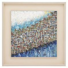 """Add artful appeal to your home office or entryway with this eye-catching wall decor, showcasing an abstract motif rendered in oils.  Product: Wall decor Construction Material: Iron, engineered wood and fiberglassFeatures: Abstract motifDimensions: 38"""" H x 38"""" W x 2"""" D"""