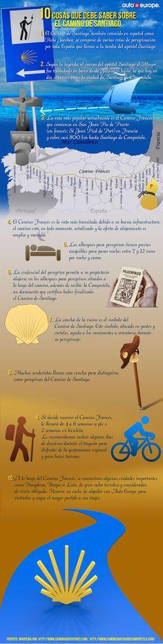 Infografía: 10 cosas que debe saber sobre el Camino de Santiago - Consulte nuestras infografías aquí: www.autoeurope.es...