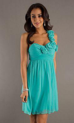Gorgeous Bridal Chiffon One Shoulder Short Bridesmaid Dresses ...
