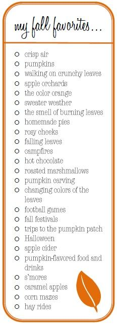 .Favorite things for fall