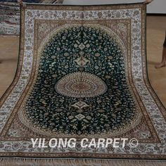 >> Click to Buy << Yilong 6'x9' cashmere silk carpet vantage exquisite handmade green persian oriental rug (1219) #Affiliate