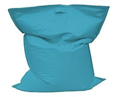Pouf cuscino in poliestere Squared blu - 25x130x150 cm