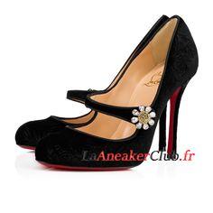 ed28be0cf2aa6b Christian Louboutin Booton Mj Chaussures Officiel Basket Pas Cher Pour Femme/Enfant  Noir 3171006BK01 -