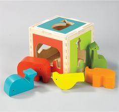 dwell studio | zoo shape sorter
