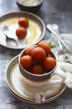 Paneer Gulab Jamun are deep fried cottage cheese dumplings soaked in sugar syrup. Indian Dessert Recipes, Indian Sweets, Good Food, Yummy Food, Fun Food, Jamun Recipe, Gulab Jamun, Food Festival, Asian