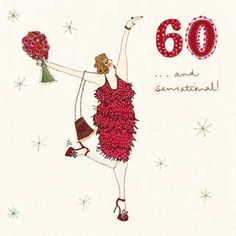 60 years young! From the Woodmansterne Age #Birthday range, by Lou Gardiner