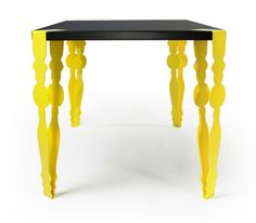 Flab Table by Kenyon Yeh. Amazing contemporary take on a classic Victorian card table.