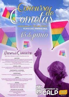 Concurso de Cometas en Calpe. Sábado 15 de junio a las 11 hs. en la Playa del Arenal-Bol.