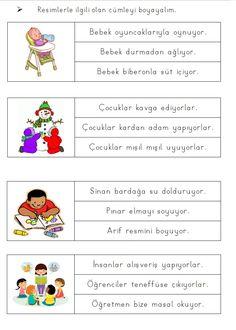 Alıntı Learn Turkish, Turkish Language, Autism Classroom, Learning Arabic, Grade 1, Homework, Montessori, Worksheets, Preschool