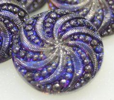 Czech Glass Button Vintage Style 18mm by BohoBeadPeddler on Etsy