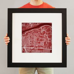 SUCH a cool website!  Map prints of college campuses, sports stadiums and cities.  Christmas presents and maybe one for me too?