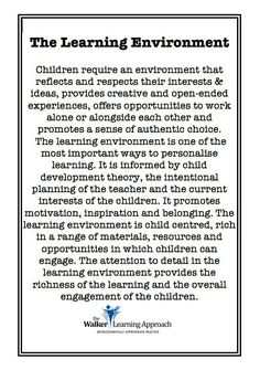 Teachers need to be flexible practitioners, who enable students to learn at their own depth, complexity and pace. This requires creating rich and engaging lessons that cater for various learning styles (e. linguistic, visual, auditory and kinaesthetic). Learning Stories, Learning Quotes, Learning Spaces, Learning Environments, Learning Centers, Childcare Environments, Play Spaces, Inquiry Based Learning, Early Learning