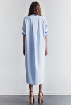 SHIRT-DRESS AKER PALE SKY | Rodebjer