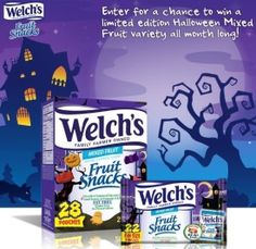 Welchs limited edition Halloween Mixed Fruit Snacks