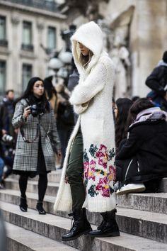 cozy knit. #CarolaBernard in Paris.
