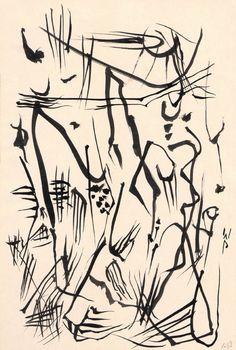 Wolfgang Paalen Untitled (Automatic Drawing) ink on paper, circa 1950 Paper Drawing, Line Drawing, Drawing Board, John Heartfield, Dada Artists, Smoke Painting, Automatic Drawing, Drawing Artist, Art Database