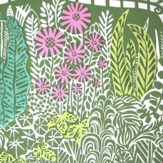 Zoe Badger Gated Garden lino print.