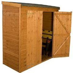 mercia overlap tall fsc pent storage 6x2 on sale fast delivery greenfingerscom - Garden Sheds Quick Delivery