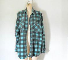 90s Grunge Flannel Shirt Women Flannel Shirt by TheVilleVintage, $20.00