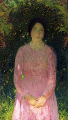 Henri Martin (1860-1943) : Portrait of a Woman. Private collection.