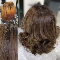 What a difference! We love this rich brunette colour correction 🤎 This client was so pleased with the results as you can imagine! Don't leave hair colouring to chance - put your trust in the professionals. Book your complimentary colour consultation, call 02920461191 or book online. #simonconstantinou #hairdresserscardiff #colorcorrection #brunettehair #hairtransformation #beforeandafterhair #colourcorrection #brunettebalayage #balayage #iamgoldwell Rich Brunette, Brunette Color, Balayage Brunette, Brunette Hair, Hair And Beauty Salon, Complimentary Colors, Hair Transformation, Color Correction, Hairdresser