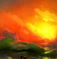 AIVAZOVSKY, Ivan (1817-1900)  The Ninth Wave (Девятый вал), detail 1850 Oil on canvas, 221 x 332 cm Russian Museum, Saint Petersburg Ed. Orig. Lic. Ed.