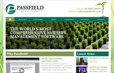 The design of Passfield website is sophisticated without being too daunting and technical and the great use of relevant imagery helps to target the correct audience.